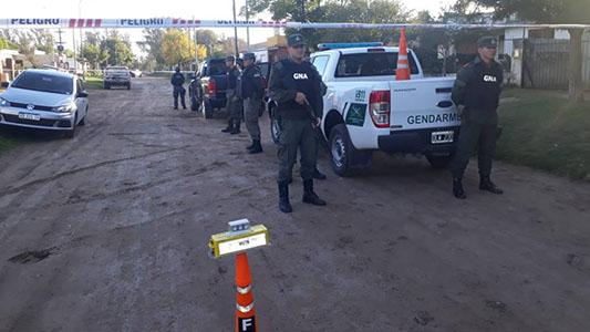Allanan domicilios en Ucacha y detienen vehículo que transportaba estupefacientes