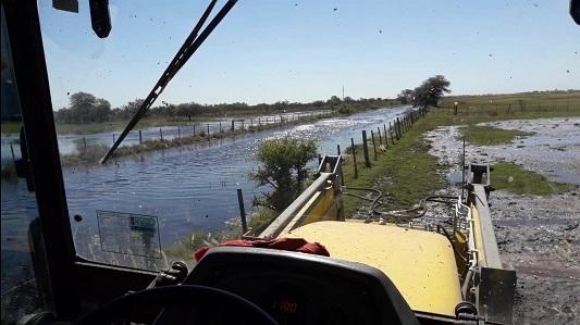 Campos inundados: Productores se concentran en Oliva para reclamar soluciones