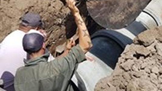 Villa Nueva: Avanza la obra de desagües en el Pinar de Las Tejas
