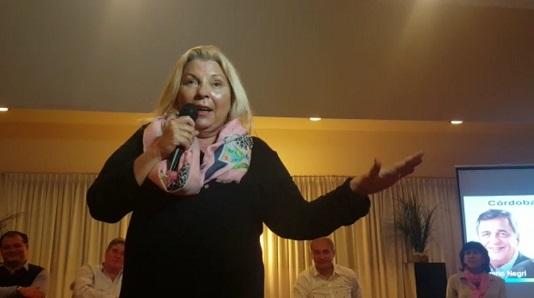 """Carrió: """"Villa María fue y es la capital de la corrupción, recobren la dignidad"""""""
