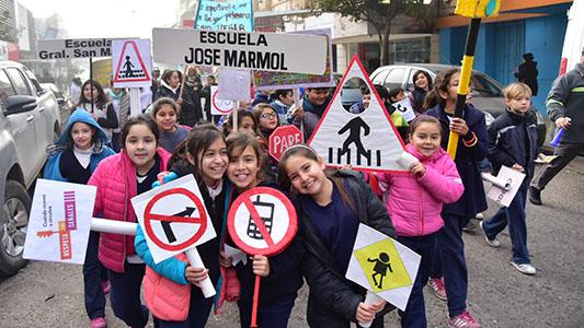 Se viene la Marcha de los Cascos: Más de 800 niños dicen basta a accidentes de tránsito