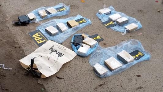 Interceptan tráfico de 5 kilos de marihuana, pero nadie quedó detenido
