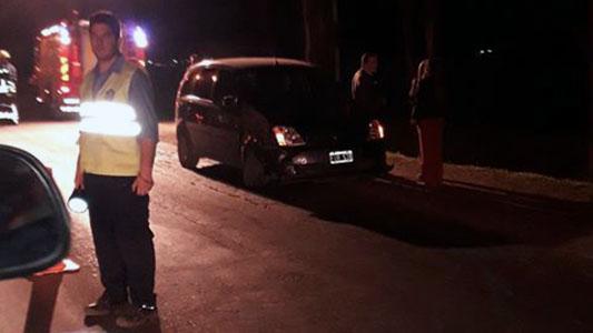 Motociclista sufrió heridas graves al chocar con un auto en Villa Nueva