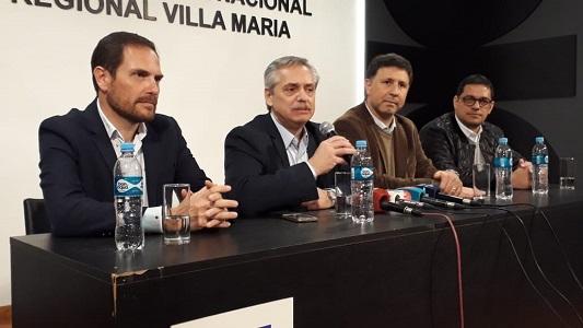 Alberto Fernández volvería a Villa María a mediados de septiembre