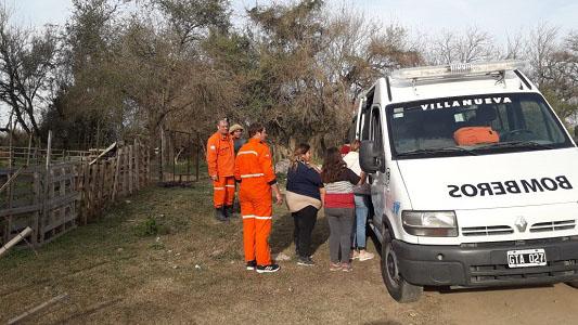 Entregaron ropa y abrigo a 43 familias villanovenses
