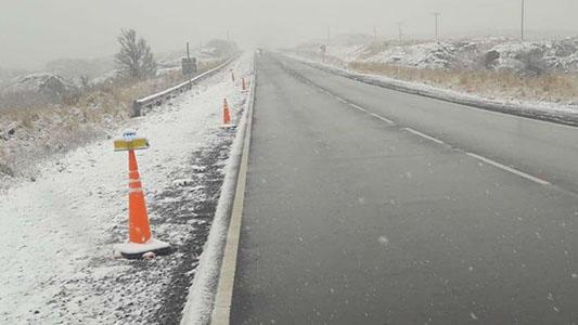Nieve en las Sierras: Ya se puede transitar el Camino de las Altas Cumbres, pero piden precaución
