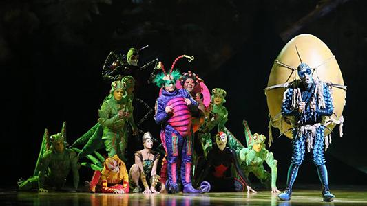 ¡Bienvenidos a la colonia! Una historia protagonizada por bichos que trae el Cirque Du Soleil
