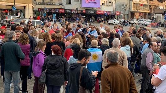 Respaldo público a Macri en Villa María, donde creció en cantidad de votos