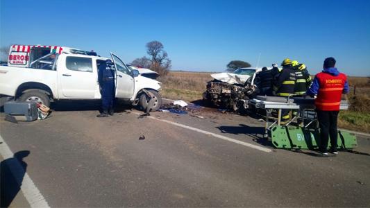 Accidente fatal en ruta 158 entre dos camionetas: Un conductor perdió la vida en el lugar