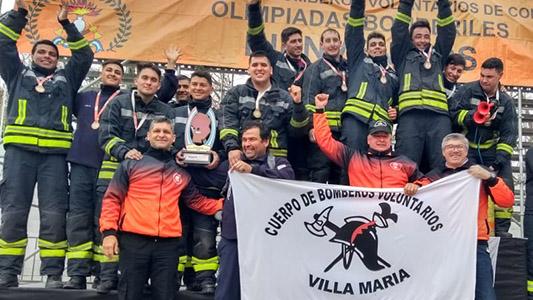 Los mejores de la provincia: Bomberos de Villa María son tricampeones de las Olimpiadas