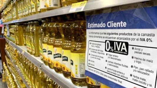 Algunos supermercados de la ciudad ya venden productos sin IVA