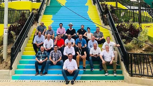 Graglia y Frossasco de visita en Colombia junto a comitiva oficial de la Provincia