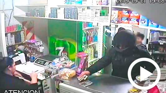 Video: Así fue el asalto a un kiosco de Villa Nueva frente a 3 chicos