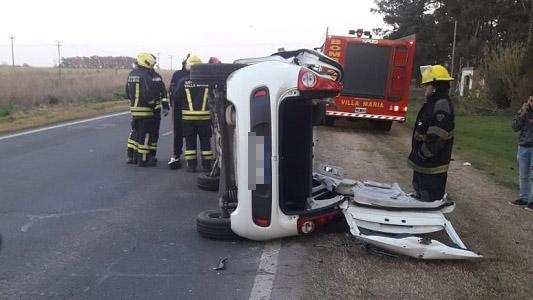 Choque en ruta 9: dio positivo test de alcoholemia a conductor del auto