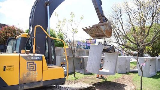 Comenzó ampliación de la capacidad de desagües en barrio Roque Sáenz Peña