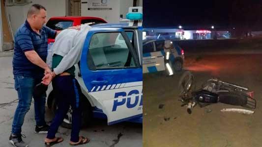 Detuvieron a sospechoso de atropellar y escapar en ruta 9: Hay un herido grave