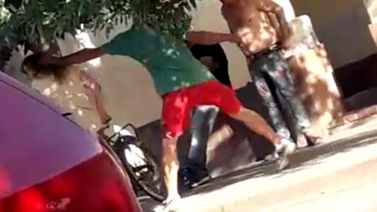 Quedó filmado cuando le pegaba a expareja en barrio Rivadavia