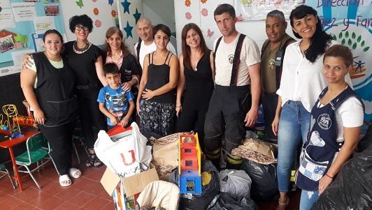 Donaron juguetes para las salas cuna de Villa Nueva