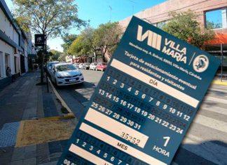 Cartón estacionamiento medido Foto: Villa María VIVO!